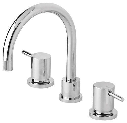 Vivid Pin Lever Basin Set Swivel Gooseneck Outlet [158829]
