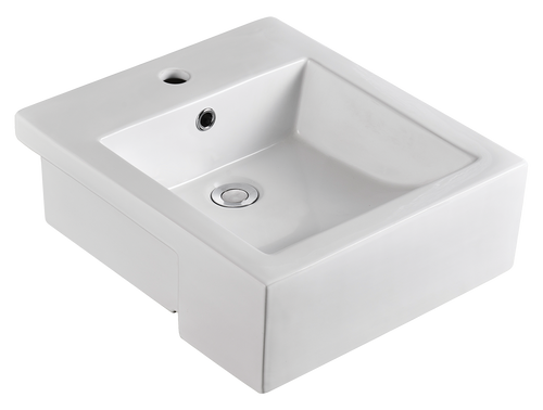 Virtue Square Semi Recessed Basin 1TH [136403]