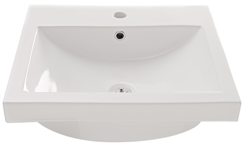 Virtue Square Insert Basin 1TH w/ Chrome plug and Waste [136395]