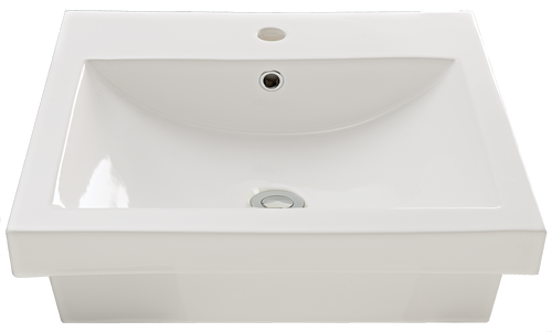 Virtue Square Insert Basin 1TH w/ Chrome Pop Up Waste [136396]