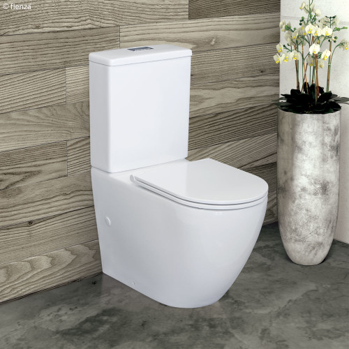 Alix Rimless extended height Pan Back to Wall Suite, 90-160 set out Slim seat [191462]