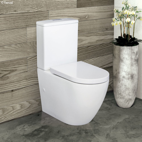 Alix Rimless extended height Pan Back to Wall Suite, 90-160 set out- Standard Seat [191460]