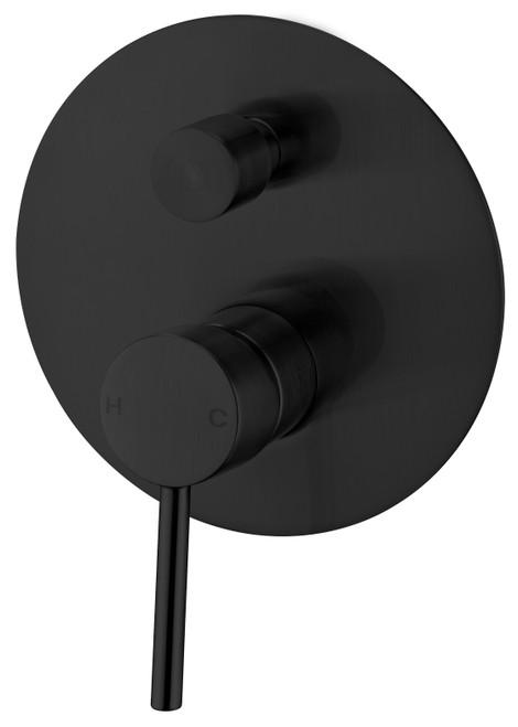 Shower Mixer With Divertor-Matte Black [181251]