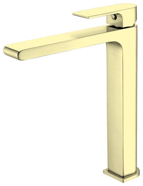 Tall Basin Mixer-Brushed Gold [181227]