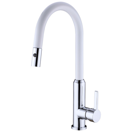 Pearl Pull Out Vegie Spray Sink Mixer-White Chrome [181361]