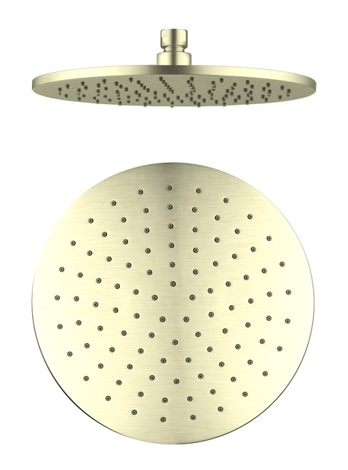 250mm Round Shower Head -Brushed Gold [181336]