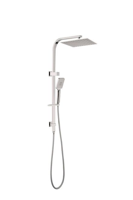 SquareTwin Shower Set  -Brushed Nickel [181343]