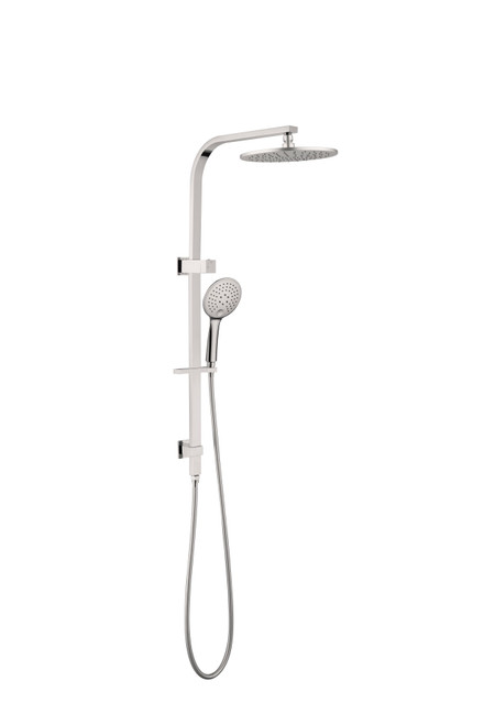 Round Twin Shower Set  -Brushed Nickel [195100]