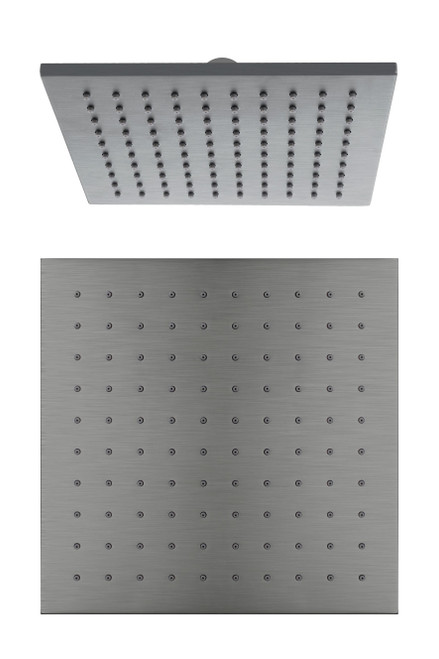 250mm Square Shower Head-Gun Metal Grey [195177]