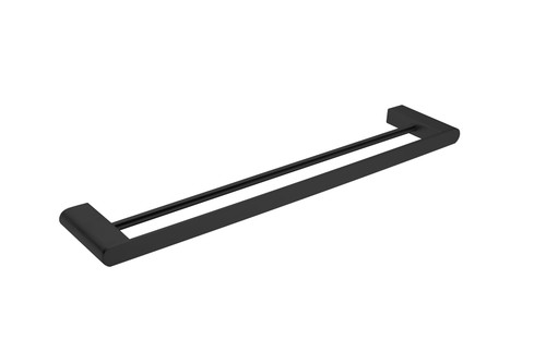 Double  Towel Rail 600mm-Matte Black [194899]