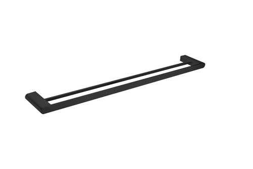 Double  Towel Rail 800mm-Matte Black [194906]
