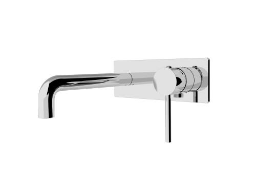 Wall Basin Mixer(Stylish Spout)-Chrome [194963]