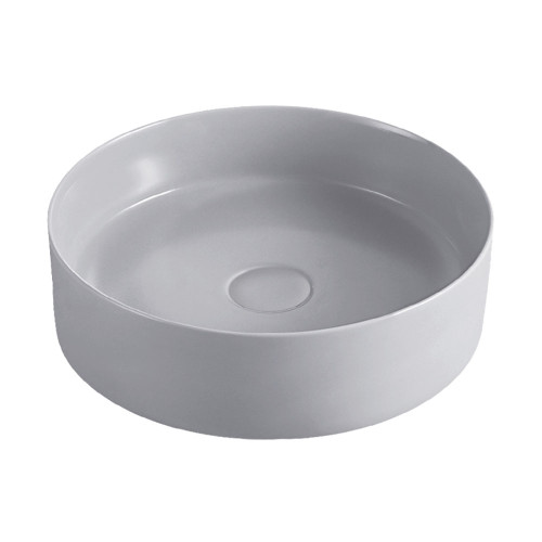 BASIN REBA ABOVE COUNTER RND 350MM DIA-120MM HIGH LIGHT GRY [180600]