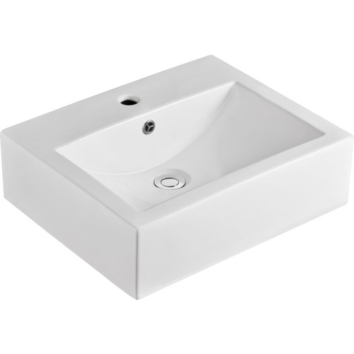 BASIN WILLOW CERAMIC A/C 510W 410D 150H 1TH WHT [180607]