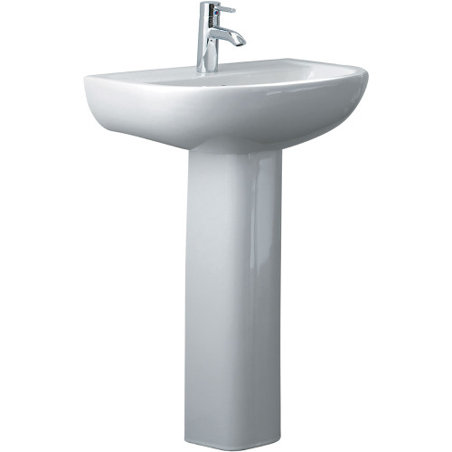 Basin Compact W/-Pedestal 1Thfienza 550W 410D 810H Wht [180751]
