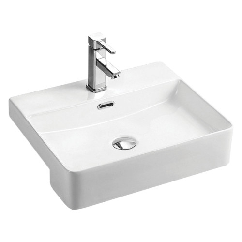 BASIN PETRA SEMI RECESSED 1TH FIENZA 500W 400D 150H WHT [180754]