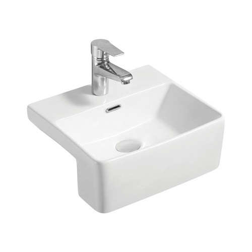 BASIN PETRA SEMI RECESSED MINI FIENZA 400W 360D 160H WHT [180757]