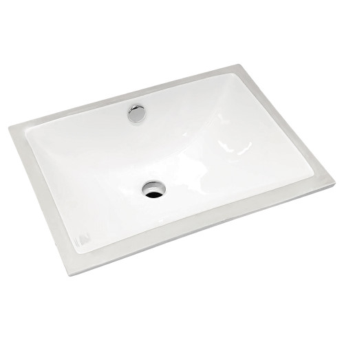 BASIN SARAH U/MOUNT 465X345X190MM W/-PU WASTE WHT [191144]