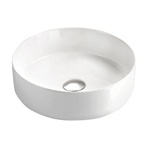 BASIN REBA WHT ABOVE COUNTER 350X350X120MM W/-PU WASTE [191151]