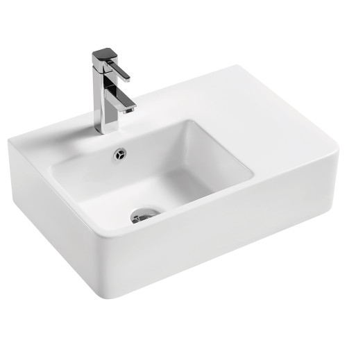 BASIN WALL DELTA CARE LH BOWL WHT [191776]
