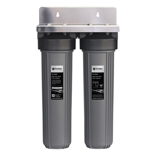 "High Flow Whole House Dual Water Filter System, 20"", 60 Lpm [139381]"