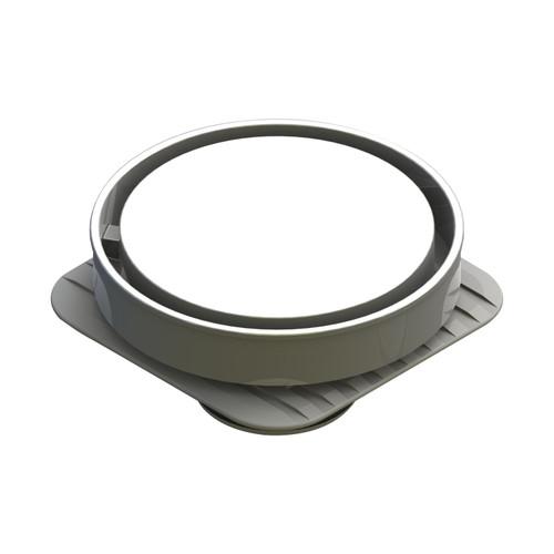 Bermuda Round Flipper Floor Waste with Megaflex™ Flange, 50mm outlet. Chrome [139669]