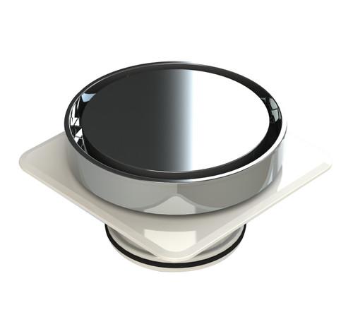 Bermuda Round Flipper Floor Waste with Megaflex™ Flange, 80mm outlet. Chrome [139670]