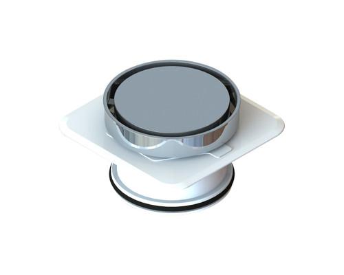 Bermuda Round Flipper Floor Waste with Megaflex™ Flange, 100mm outlet. Chrome [139671]