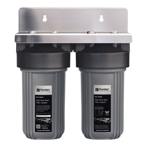 "High Flow Whole House Dual Water Filtration Filter System, 10"", 60 Lpm [154308]"