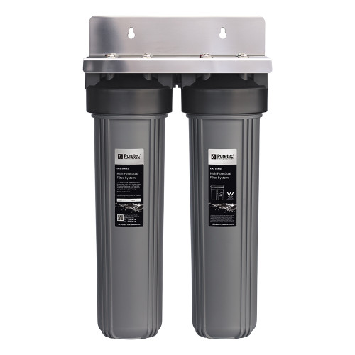 "High Flow Whole House Dual Water Filtration Filter System, 20"", 110 Lpm [154309]"