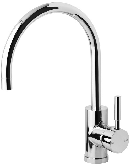 Vivid Sink Mixer 220mm Gooseneck [140917]