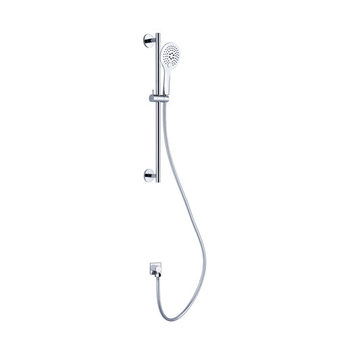 Rain Shower Rail With Push Button Shower-Chrome [195118]