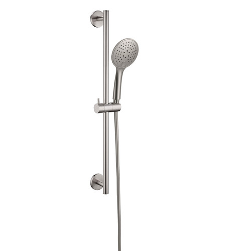 Rain Shower Rail With Push Button Shower-Brushed Nickel [195119]
