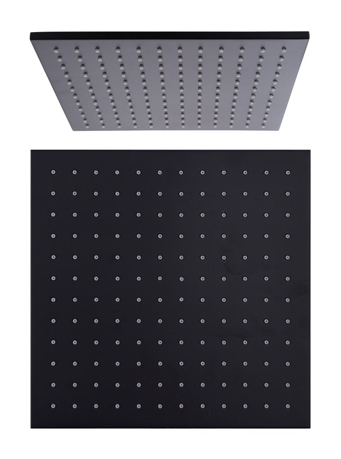 200mm Square Shower Head-Matte Black [195173]