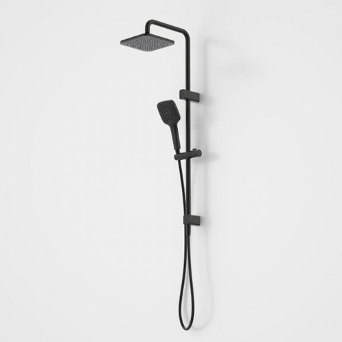 Luna SYS O/H Shower on Rail Black [194599]
