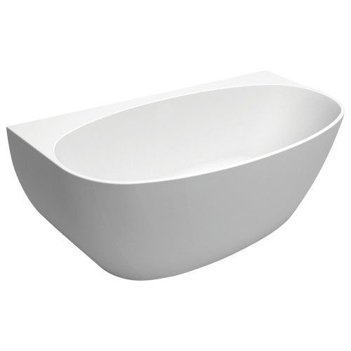 Keeto 1500 Back-to-Wall Acrylic Bath [166661]