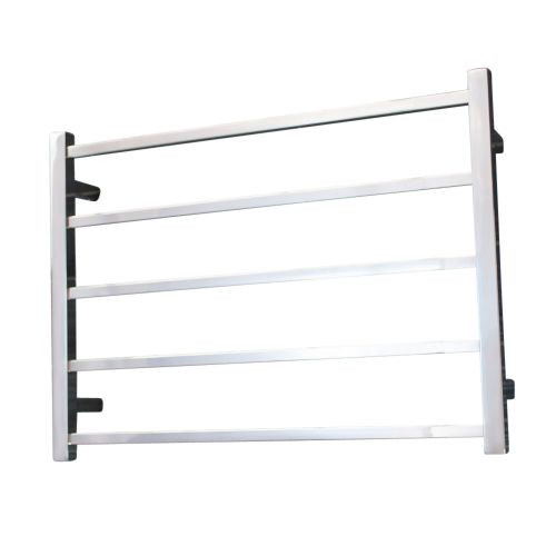 Radiant STR03 Heated Square Ladder 750 X 550 mm Mirror Polished LEFT HAND WIRED [133700]