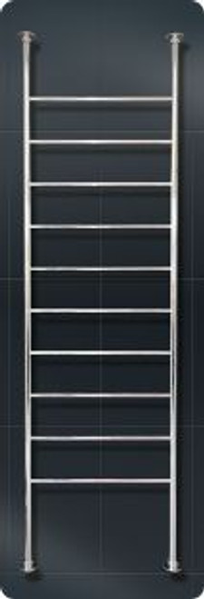 Radiant FC-2500X700 Heated Round Floor To Ceiling Ladder 2500 X 700 mm Mirror Polished [133929]