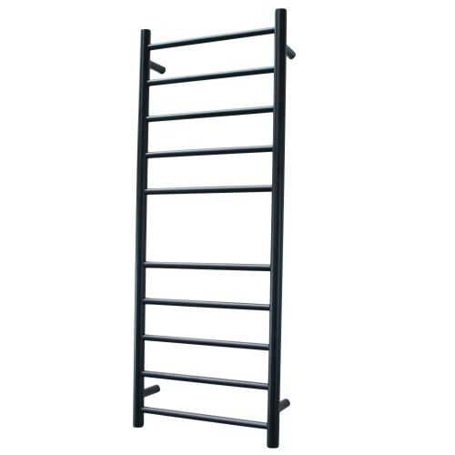 Radiant BRTR430 Heated Round Ladder 430 X 1100 mm Matt Black RIGHT HAND WIRED [135682]