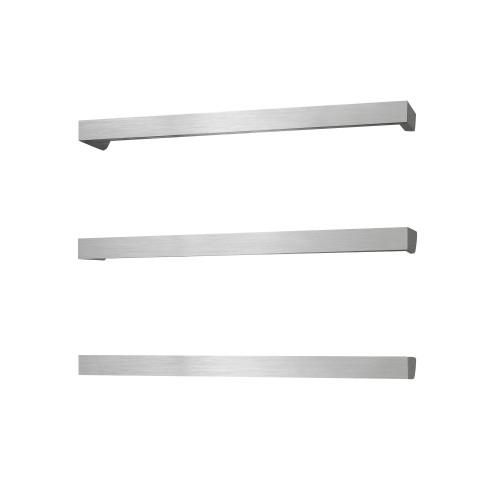 Radiant BRU-SBSTR-650 Single Square Bar 650mm Brushed Satin [137685]
