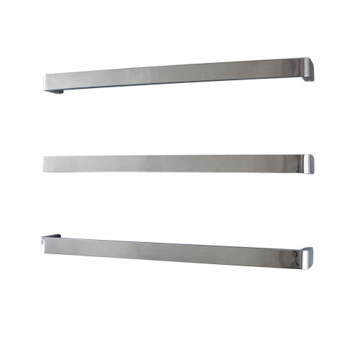 Radiant Vail-800 Single square bar with rounded ends Bar 800mm Mirror Polished [154249]