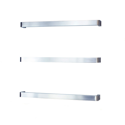 Radiant BRU-VAIL-800 Single square bar with rounded ends Bar 800mm Brushed Satin [190571]