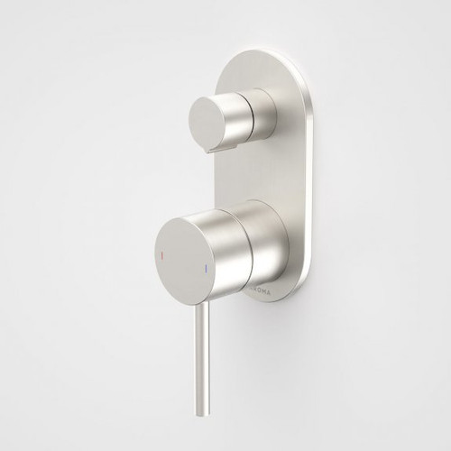 Liano II Bath / Shower Mixer With Diverter - Rounded Cover Plate - Brushed Nickel - Sales Kit [196059]
