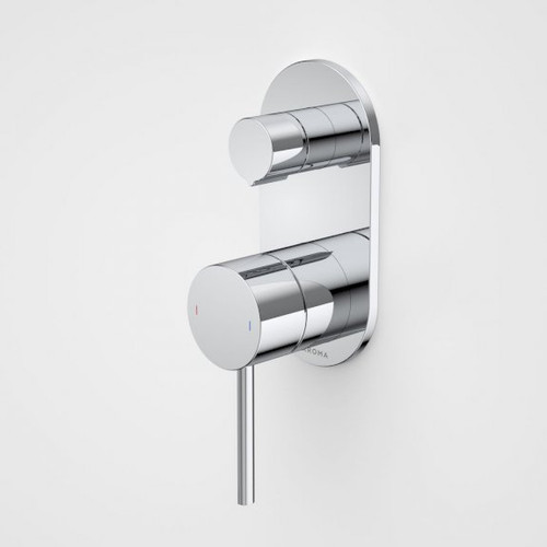 Liano II Bath / Shower Mixer With Diverter - Rounded Cover Plate - Chrome - Sales Kit [196060]