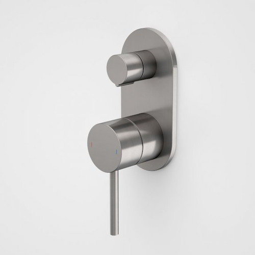 Liano II Bath / Shower Mixer With Diverter - Rounded Cover Plate - Gunmetal - Sales Kit [196061]