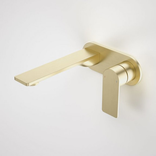Urbane II 180mm Wall Basin / Bath Mixer - Round Cover Plate - Brushed Brass - Sales Kit [196136]