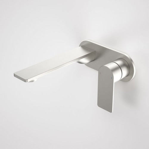 Urbane II 180mm Wall Basin / Bath Mixer - Round Cover Plate - Brushed Nickel - Sales Kit [196138]
