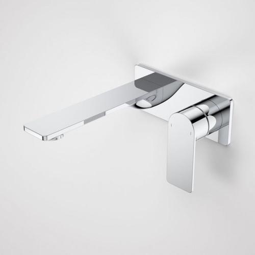 Urbane II 180mm Wall Basin / Bath Mixer - Rectangular Cover Plate - Chrome - Sales Kit [196149]