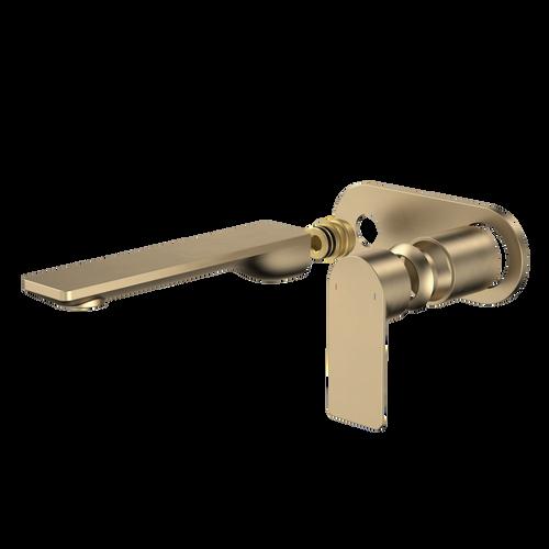 Urbane II 180mm Wall Basin / Bath Trim Kit -  Round Cover Plate - Brushed Brass [196164]