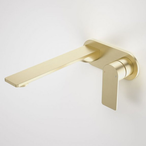Urbane II 220mm Wall Basin / Bath Mixer - Round Cover Plate - Brushed Brass - Sales Kit [196185]